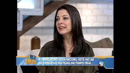 Ana Paula Padrão fala sobre R7 - Entretenimento - R7 Hoje em Dia