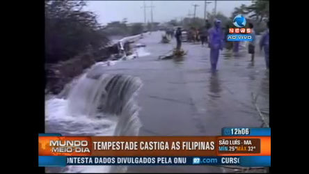 Tempestade castiga as Filipinas - Record News Play - R7 Mundo ...