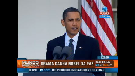 Obama agradece Nobel da Paz - Record News Play - R7 Mundo ...