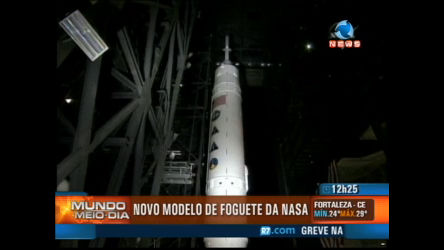 Nasa exibe novo modelo de foguete - Record News Play - R7 ...