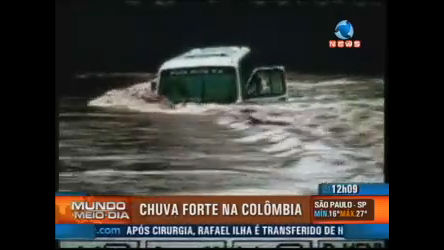 Chuva forte provoca enchentes na Colômbia - Record News Play ...