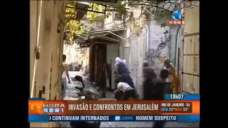 Confrontos deixam 34 feridos em Jerusalém - Record News - R7 ...