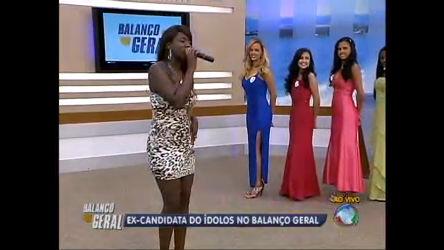 Ex-candidata do Ídolos canta na final do concurso, miss Baixada ...