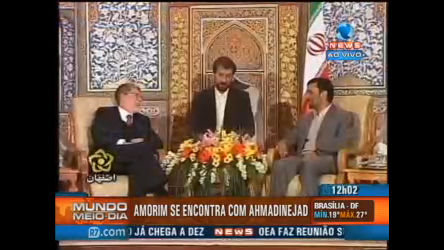 Celso Amorim visita Ahmadinejad no Irã - Record News Play - R7 ...