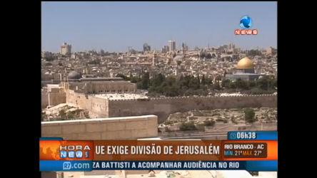 União Europeia exige divisão de Jerusalém - Record News - R7 ...