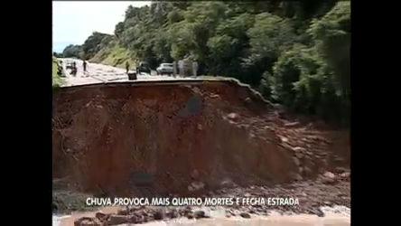 Número de mortos por causa das chuvas sobe para quatro no Paraná
