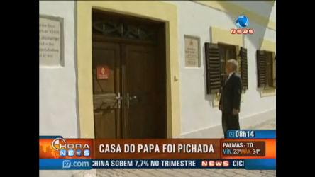 Casa onde Papa Bento XVI nasceu aparece pichada na Alemanha ...