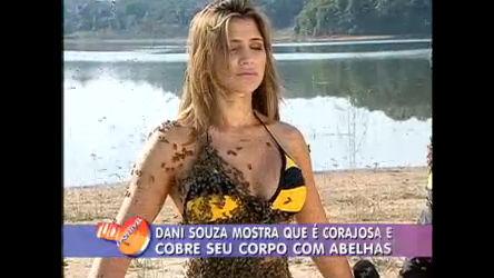 Dani Souza surta em desafio com abelhas no Tudo É Possível ...