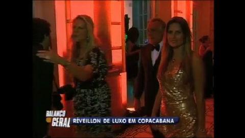 Luxo e glamour fazem parte da festa de Réveillon dos ricaços do Rio