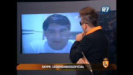 Elcio Coronato conversa com internauta pelo Skype ...
