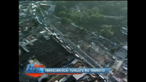 Obras da Transcarioca provocam caos no trânsito do Rio - Rio de ...