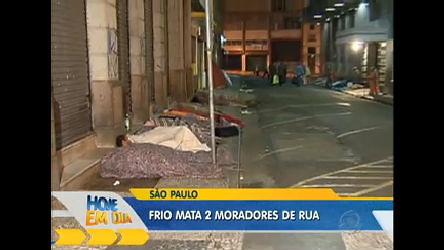 Frio intenso mata dois moradores de rua no Estado de São Paulo ...