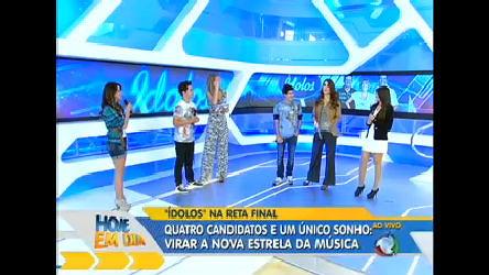 Quarteto de finalistas de Ídolos comenta a apresentação na reta ...