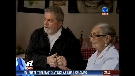 Lula visita Dona Canô na Bahia - Record News - R7 Jornal da ...