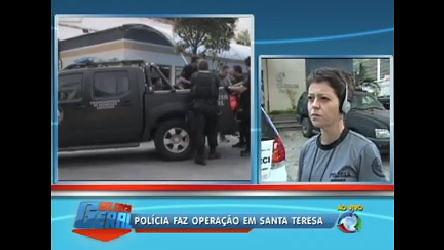 Operação policial busca suspeitos de tráfico em Santa Teresa ( RJ ...