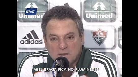 Abel Braga diz que fica no Fluminense - Rio de Janeiro - R7 RJ no Ar
