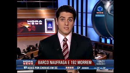Barco naufraga e 192 pessoas morrem - Record News - R7 Hora ...