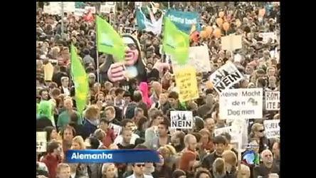 Visita do Papa Bento 16 gera protestos em Berlim, na Alemanha ...