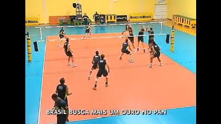 Seleção brasileira de vôlei masculino segue para o Pan tentando ...