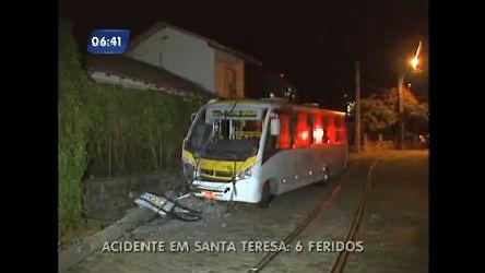 Acidente com micro-ônibus deixa seis feridos em Santa Teresa ( RJ ...
