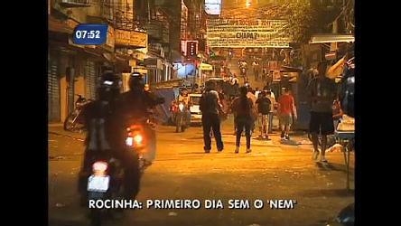 Três são detidos na Rocinha (RJ) depois da prisão do traficante Nem