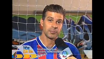 Túlio Maravilha tenta milésimo gol no Hoje em Dia RJ - Rede Record