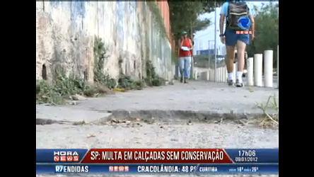Nova multa pune má conservação de calçadas em São Paulo ...