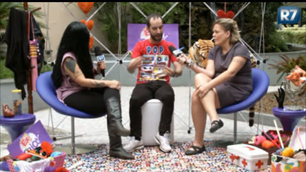 Clara e Lele tricotam sobre reality com Pedro Tapajós - Rede Record