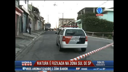 Viatura da Polícia Militar é fuzilada em São PauloRecord News