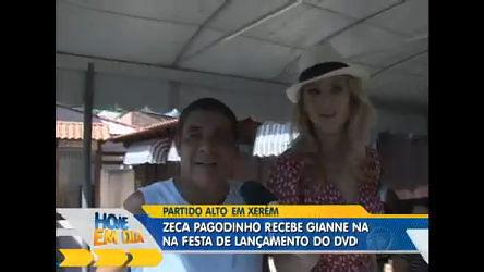 Gianne Albertoni confere festa de Zeca Pagodinho em Xerém (RJ ...