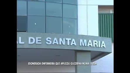 Enfermeira que aplicou glicerina em idosa é exonerada - Distrito ...