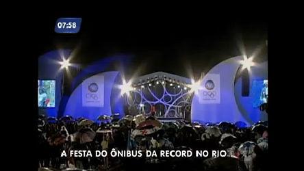 Ônibus da Record deixa clima olímpico no Rio de Janeiro - Rio de ...