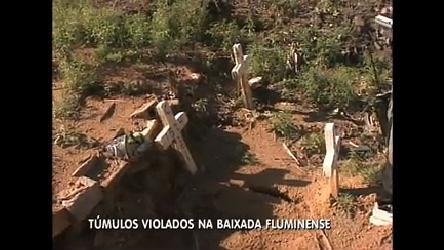 Polícia encontra túmulos violados em cemitérios da baixada (RJ ...