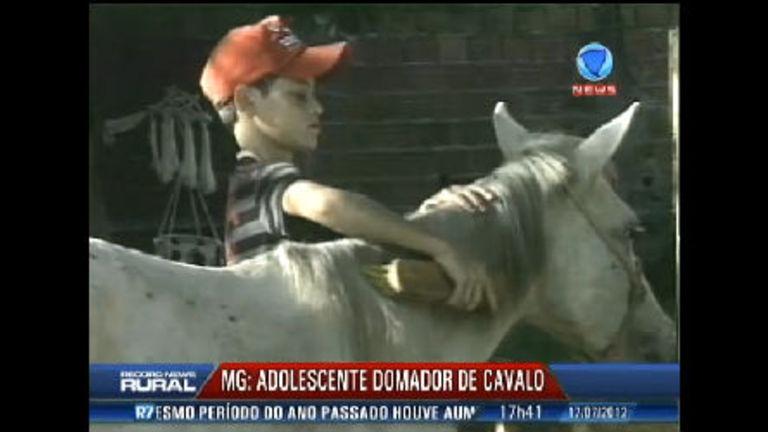 Conheça o adolescente de 12 anos que é domador de cavalos ...