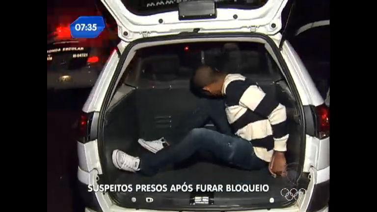 Polícia prende cinco suspeitos que fugiram de bloqueio policial ...