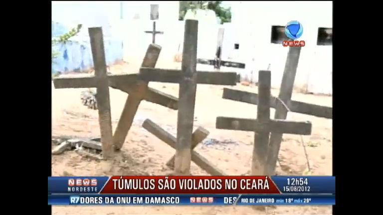 Vândalos violam túmulos em cemitério no Ceará - Record News ...