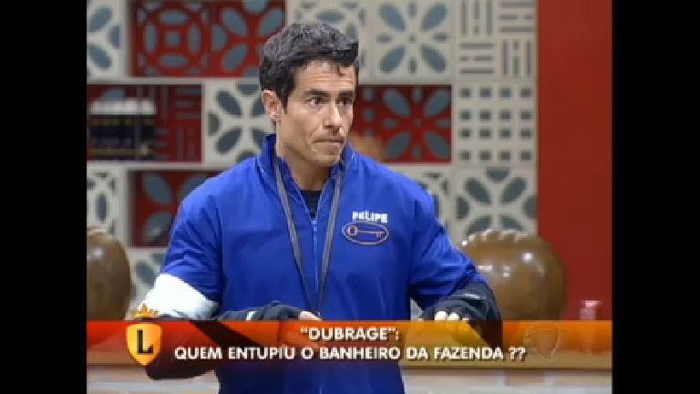 """Dubrage"": Felipe Folgosi quis explodir a privada na Fazenda. Veja ..."