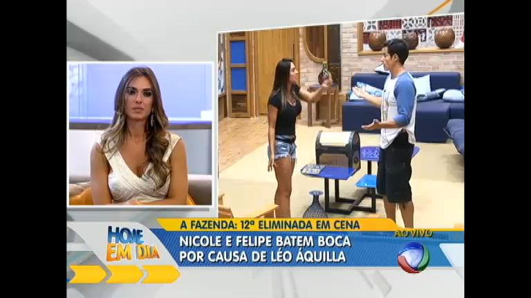 Polêmica: Nicole revê as confusões com Felipe Folgosi - Rede Record