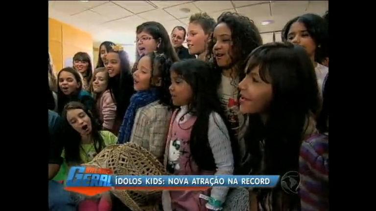 Ídolos Kids é nova atração da Record - Rio de Janeiro - R7 Balanço ...