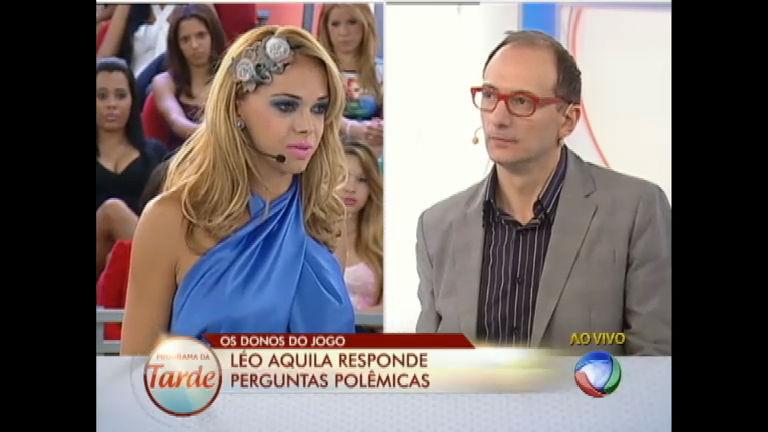 Léo Áquilla responde perguntas polêmicas no Donos do Jogo ...