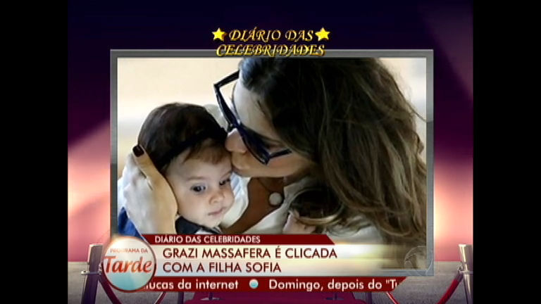 Diário das Celebridades: Grazi Massafera é clicada com a filha Sofia