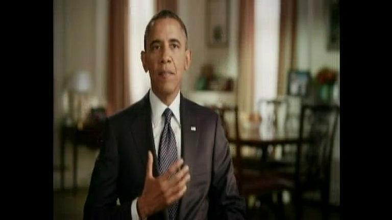 """Obama, em espanhol, elogia em propaganda """" bom exemplo"""" de ..."""