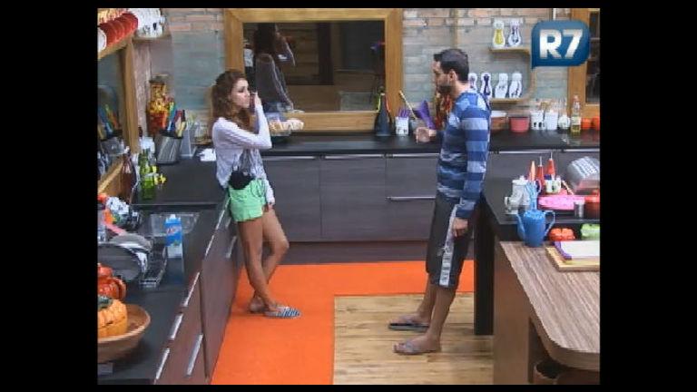 Claudia explica a Rodrigo Carril o desentendimento que teve com ...