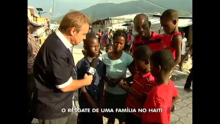 Gugu ajuda família do Haiti e dá apartamento no Brasil - Rede Record