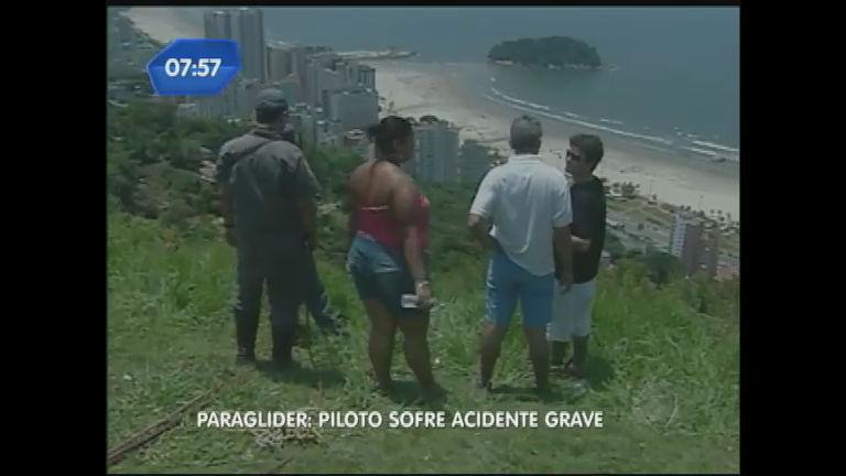 Piloto de paraglider cai em matagal em São Vicente (SP) - Notícias ...