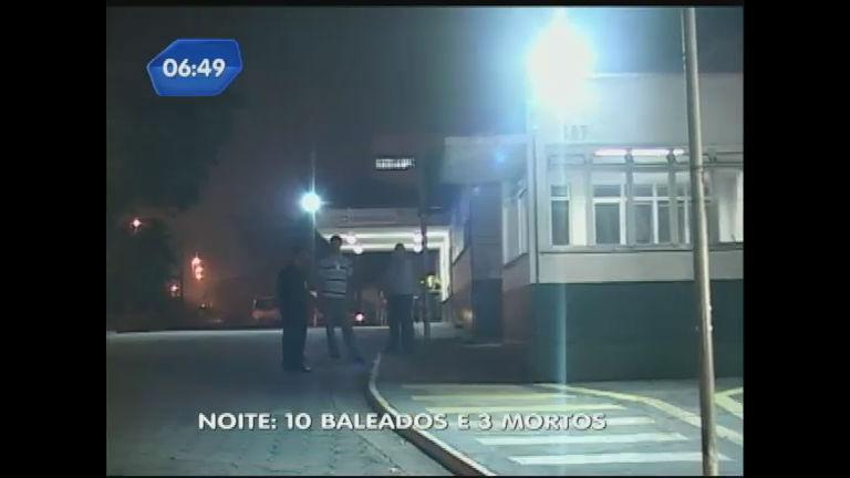 Violência em SP deixa 10 baleados e três mortos - Rede Record