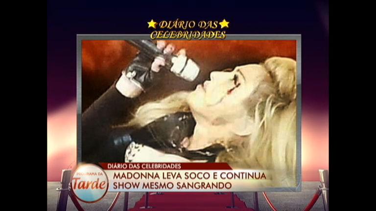 Diário das Celebridades: Madonna leva soco, mas continua show ...