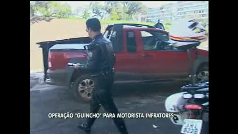 """Operação """"Guincho"""" pune motoristas infratores - Distrito Federal ..."""