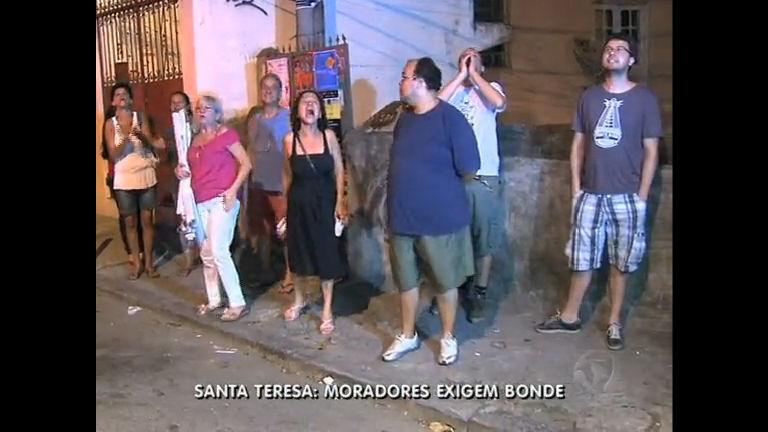 Moradores de Santa Teresa ( RJ) fazem protesto por bonde - Rio de ...