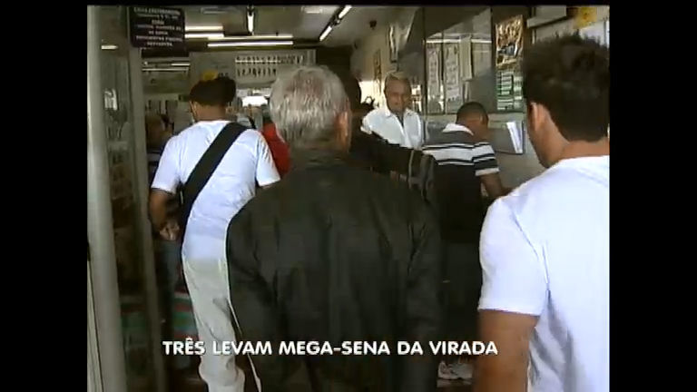 Três felizardos acertam as dezenas da Mega- Sena da Virada ...